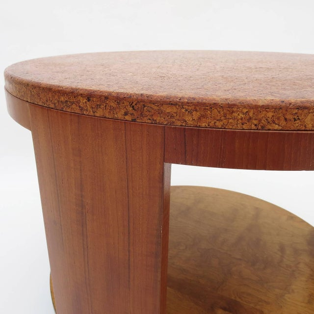 Paul Frankl Cork Topped Occasional Table For Sale - Image 4 of 7