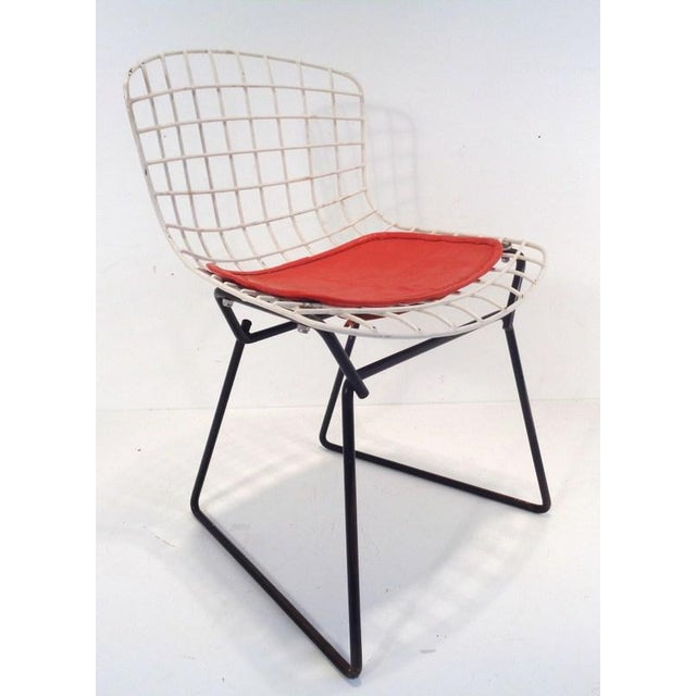 Harry Bertoia Black & White Harry Bertoia for Knoll Small Children's Chair For Sale - Image 4 of 12