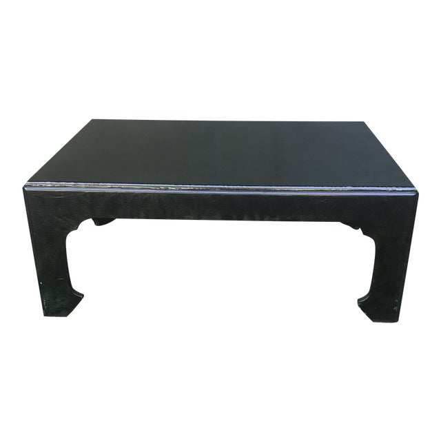 Chinoiserie Green Painted Coffee Table by Baker Furniture For Sale