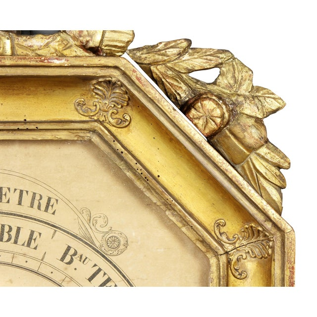 French Charles X-Giltwood Barometer For Sale - Image 3 of 8