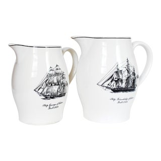 Pair of Vintage Spode Pitchers For Sale