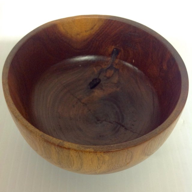 Turned Walnut Bowl by Master Turner Roy S. Fisher - Image 3 of 4