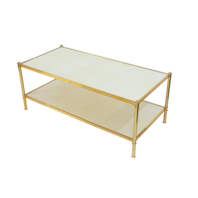 Frederick P. Victoria & Son, Inc. Rose Gold Cole Porter Coffee Table For Sale - Image 4 of 6