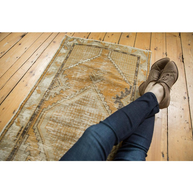 """Shabby Chic Vintage Distressed Oushak Rug Runner - 2'7"""" X 5'3"""" For Sale - Image 3 of 9"""