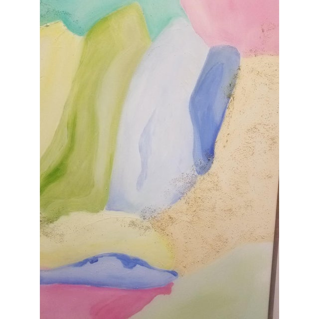 """Abstract Original Contemporary """"Sea Glass and Sand"""" Oil Painting by Christine Frisbee For Sale - Image 3 of 8"""