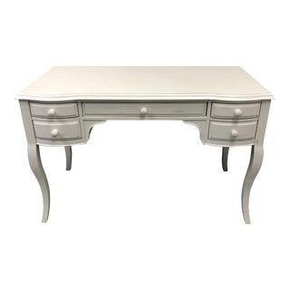 Pottery Barn Vintage White Lilac Desk For Sale