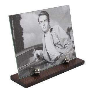 Art Deco Macassar Wood and Chrome Picture Photo Frame For Sale
