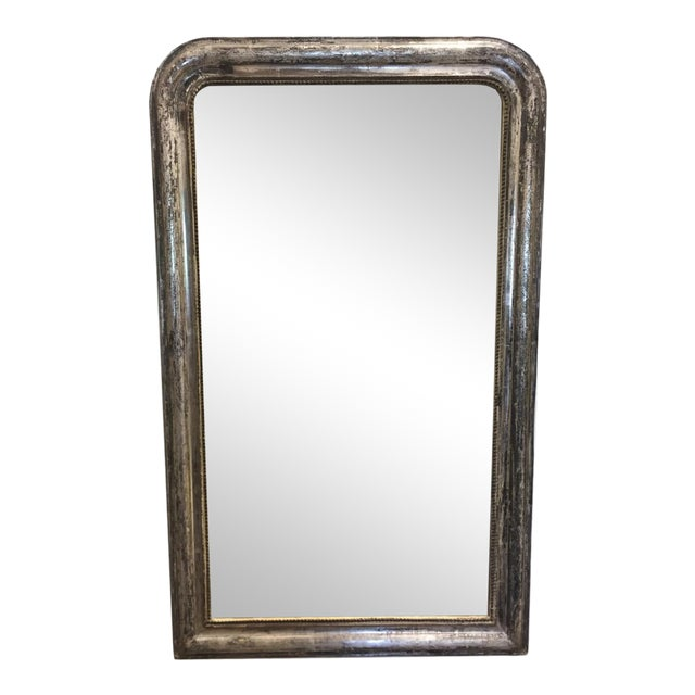 Late 19th Century Silver Leaf Louis Philippe Mirror For Sale