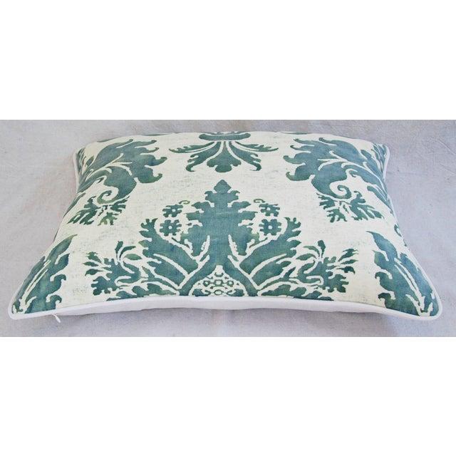 Designer Italian Fortuny Glicine & Velvet Pillow - Image 4 of 6