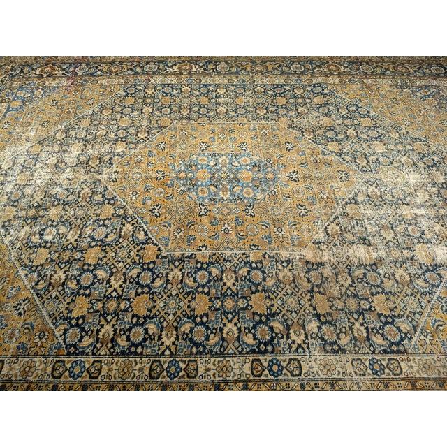 Islamic 1920s Vintage Persian Tabriz Rug - 9′4″ × 12′7″ For Sale - Image 3 of 13