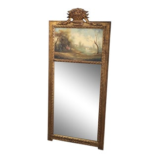 19th Century Victorian Trumeau Mirror For Sale