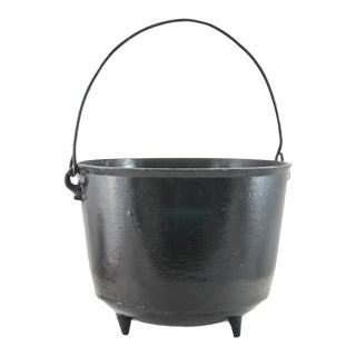 "11"" Iron Cauldron Planter For Sale"