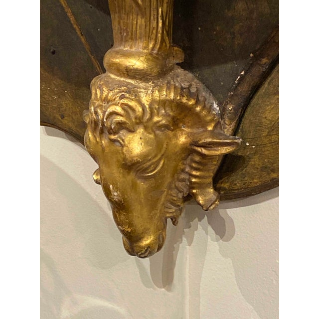 19th Century Italian Wall Bracket With Gilt Rams Head For Sale In Dallas - Image 6 of 8