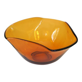 Anchor Hocking Amber Glass Bowl