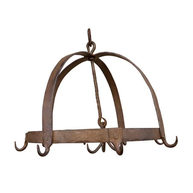 Brutalist 18th Century French Iron Game Rack For Sale - Image 3 of 8