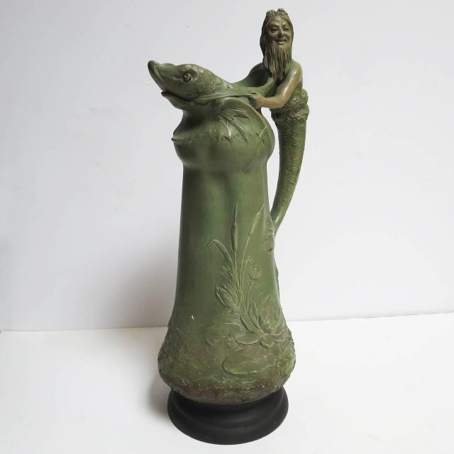 "Art Nouveau Ceramic ""Merman"" Pitcher For Sale In Los Angeles - Image 6 of 6"