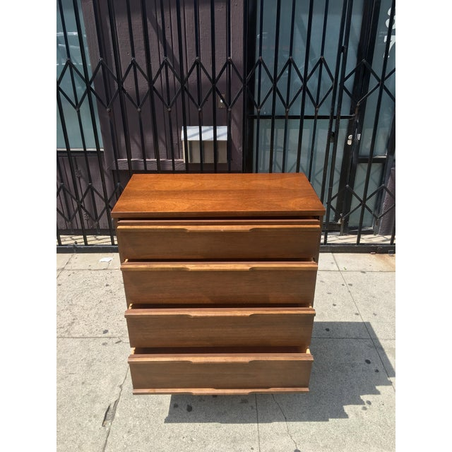 Mid-Century Highboy with Sculpted Pulls - Image 7 of 10