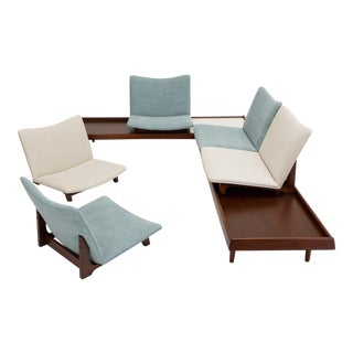1950s Gerald McCabe Two Piece Modular Seating Group - a Pair For Sale