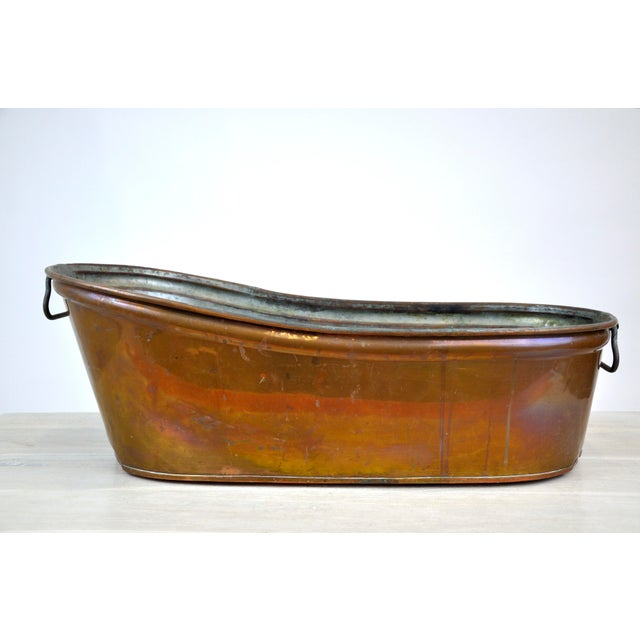 Antique Baby Copper Bath Tub With Nickel Interior   Chairish