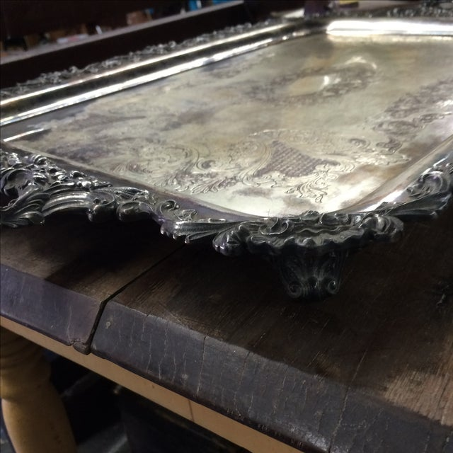 Silver Plate Tray - Image 4 of 7