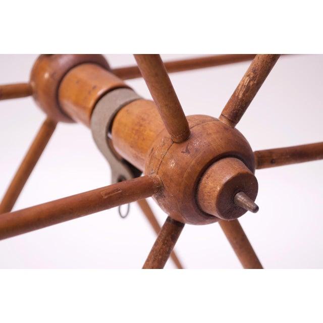 Vintage Primitive Yarn Winder / Yarn Swift For Sale - Image 10 of 13