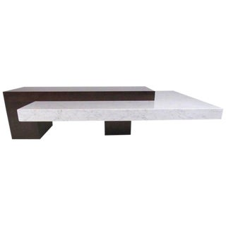 Italian Modern Marble-Top Coffee Table For Sale