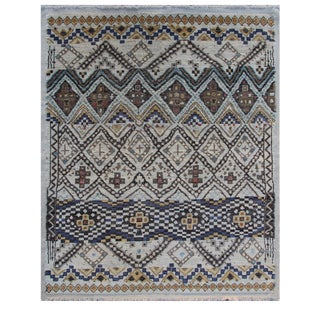 """Hand Knotted Navajo Rug. 8'5"""" X 10'1"""" For Sale"""