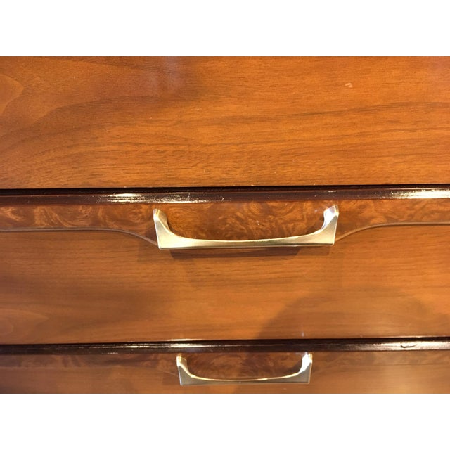 Metal Mid 20th Century Vintage Walnut Credenza For Sale - Image 7 of 10