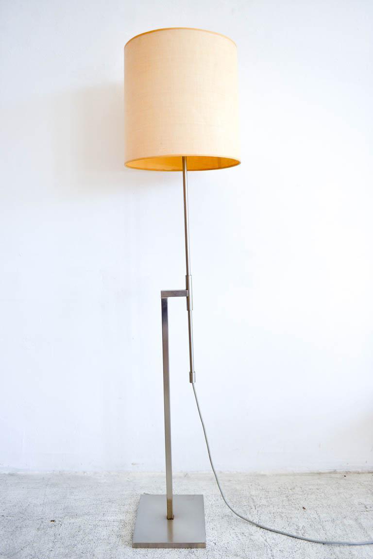 Laurel Brushed Nickel Adjustable Arm Floor Lamp