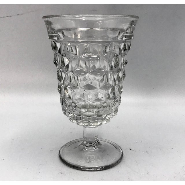 Fosteria American Crystal Clear Goblets - Set of 4 For Sale In New York - Image 6 of 7