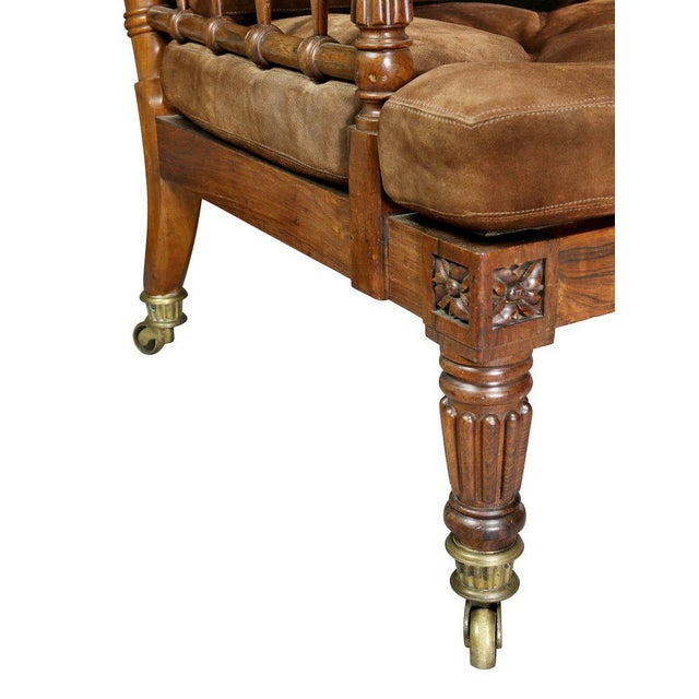 Rosewood George IV Rosewood Bergere Chair by Gillows For Sale - Image 7 of 12