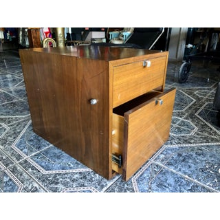 1950s Mid-Century Modern George Nelson for Herman Miller 2-Drawer Medium Dark Wood Tone File Cabinet With Lock Preview