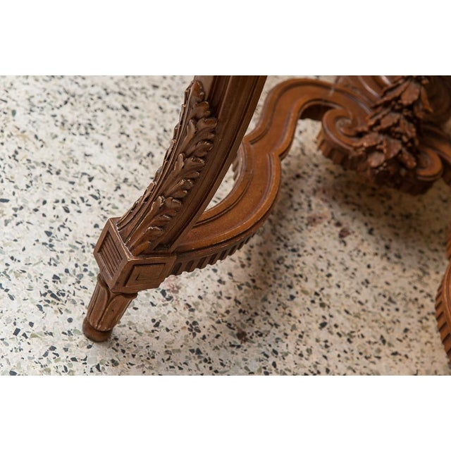 Marble Marble top console For Sale - Image 7 of 9
