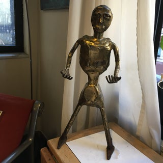 Vintage Modernist Gilt Metal Figure Sculpture1960s Americana Preview