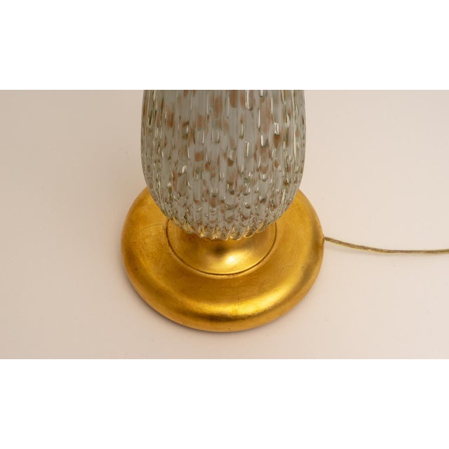 Barovier & Toso Barovier & Toso Mid-Century Modern Gold Flecked Murano Glass Table Lamps - a Pair For Sale - Image 4 of 9