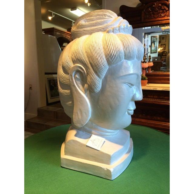 Large Plaster Buddah Bust - Image 3 of 4