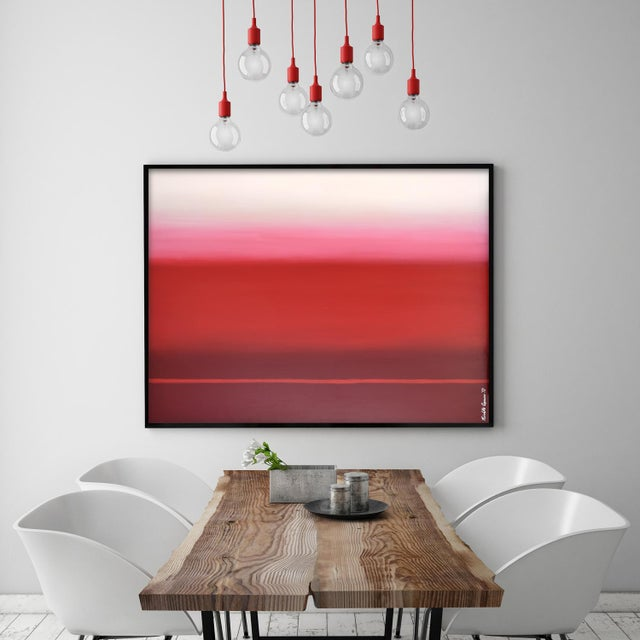Modern Red Ombré For Sale - Image 4 of 5