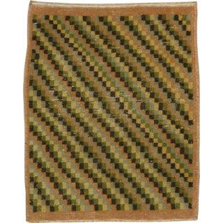 "Vintage Turkish Anatolian Rug - Size: 1' 11"" X 2' 3"" For Sale"