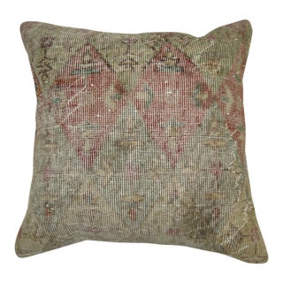 Shabby Chic Turkish Rug Pillow For Sale