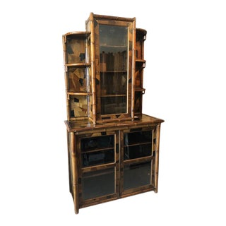 19th Century Arts and Crafts Bamboo Bookcase For Sale