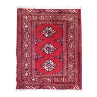"""1950s Vintage Turkaman Persian Rug-2'4"""" X 2'11"""" For Sale"""