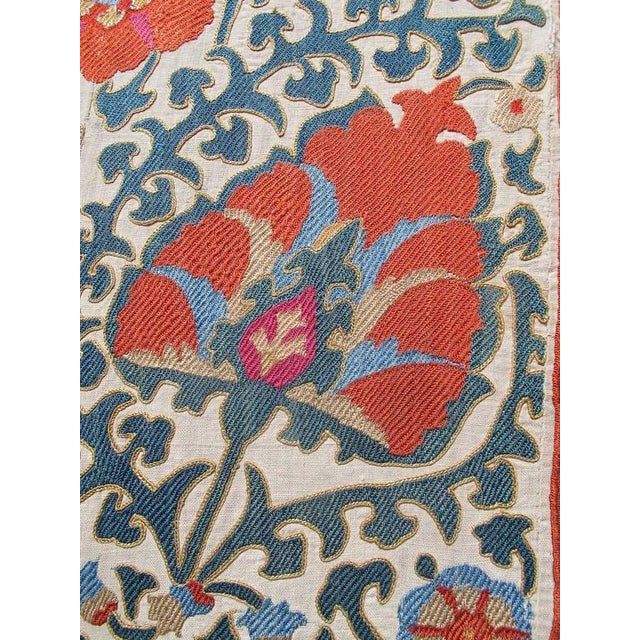 Traditional Silk Road Suzani Embroidery For Sale - Image 3 of 4