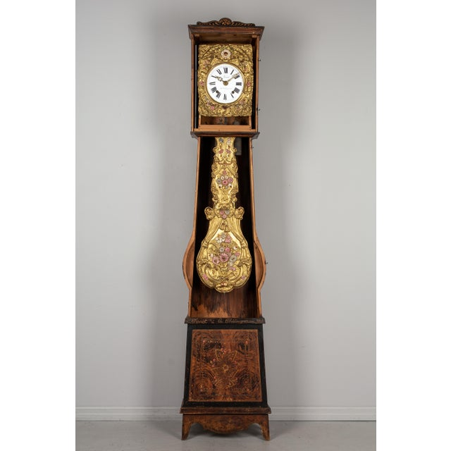 19th Century French Comtoise Grandfather Clock For Sale - Image 4 of 12