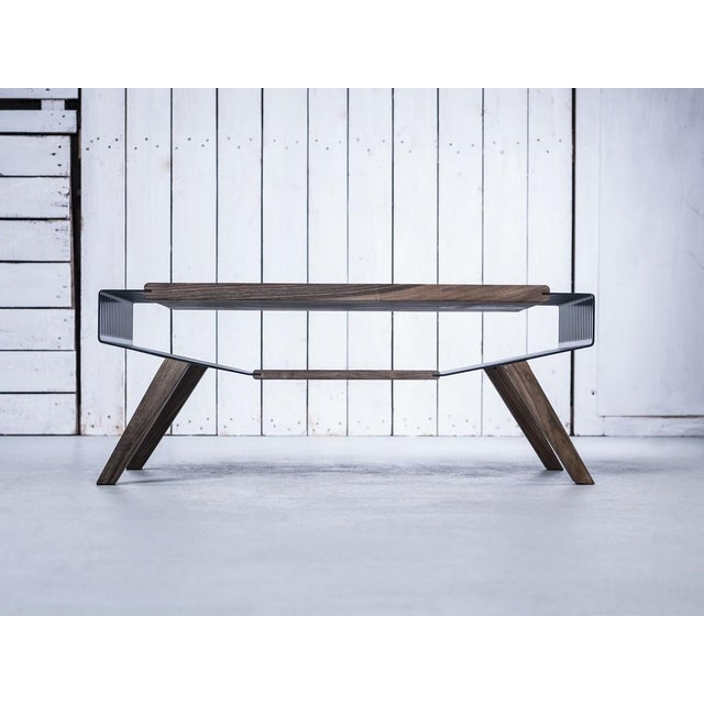 Solid Wood & Perforated Steel Coffee Table - Image 5 of 8