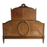 Image of Antique French Cane Full Bed For Sale