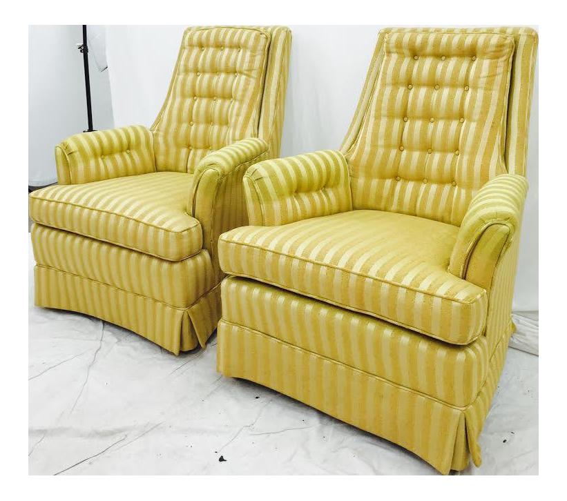Retro Mid Century Arm Chairs   Pair