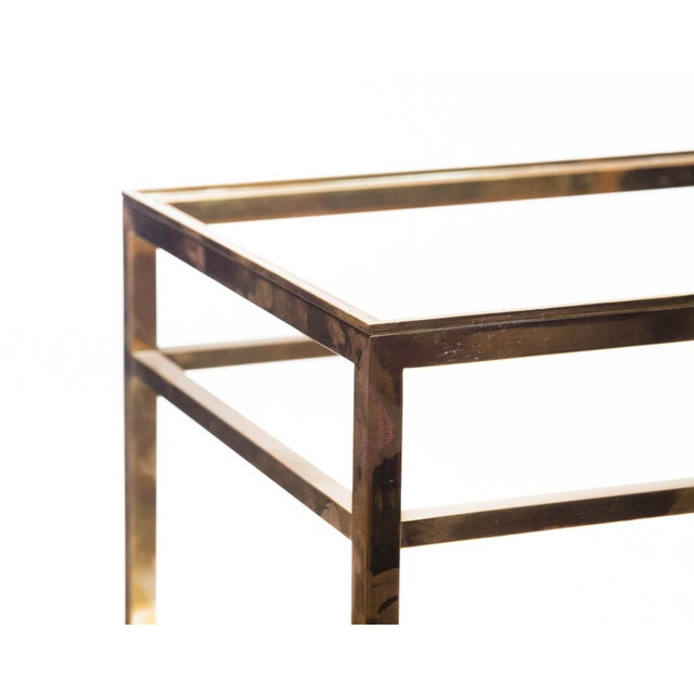 Lawrence & Scott Regalia Leather Box in Mahogany With Brass Stand as Side Table For Sale - Image 10 of 11