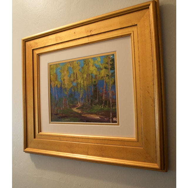 Yellow Aspen Trees Painting - Image 4 of 5