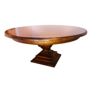 Ralph Lauren Modern Barn Pedestal Dining Table For Sale