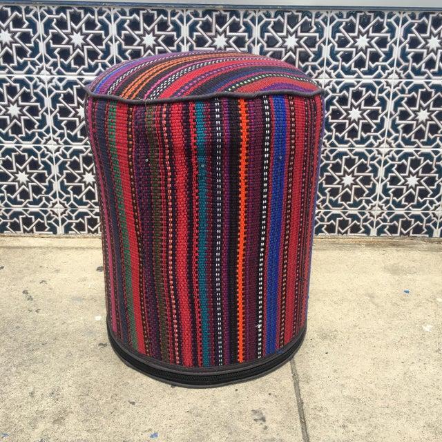 Vintage Kilim Fabric Stool - Image 2 of 4